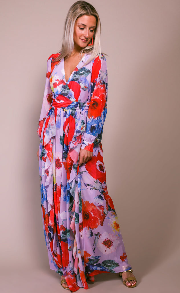 elegant extravagance printed dress