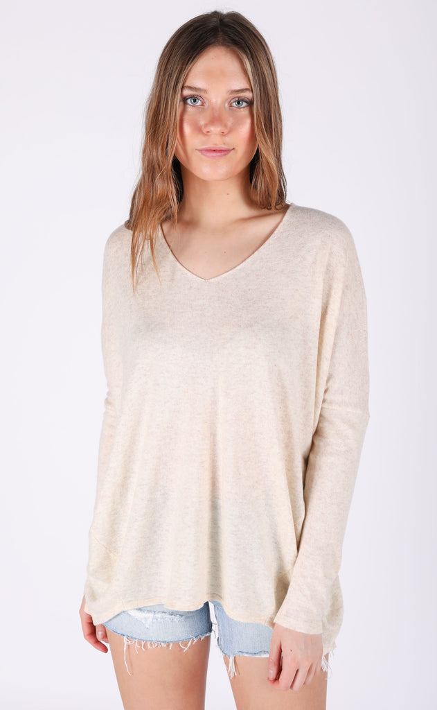 encore basic sweater - beige
