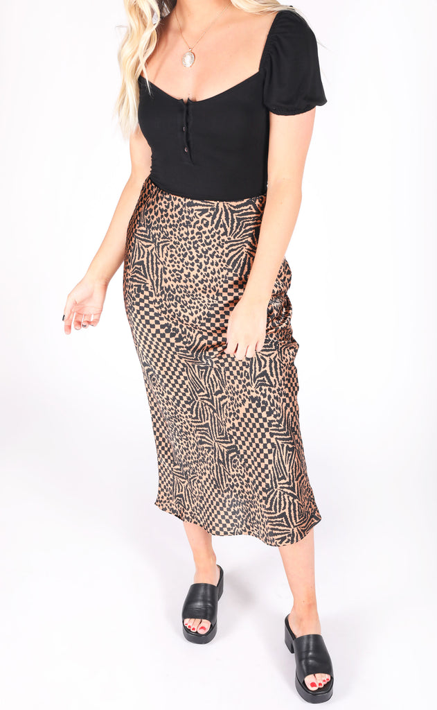 amuse society: encore woven midi skirt