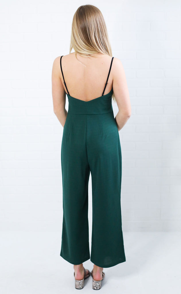evergreen structured jumpsuit