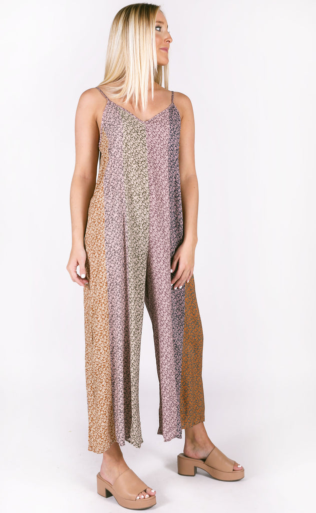 fall fever printed jumpsuit