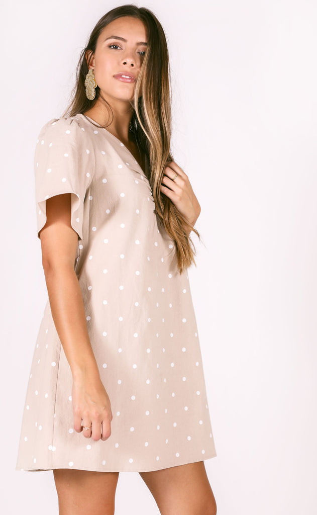 fall fling polkadot dress
