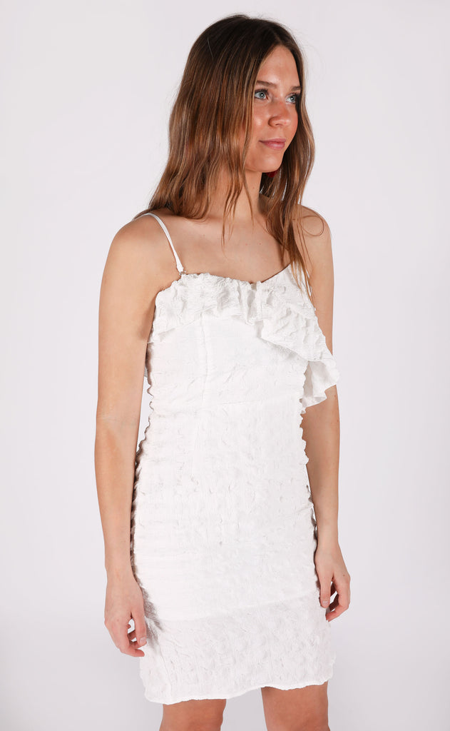fall in love ruffle dress - ivory