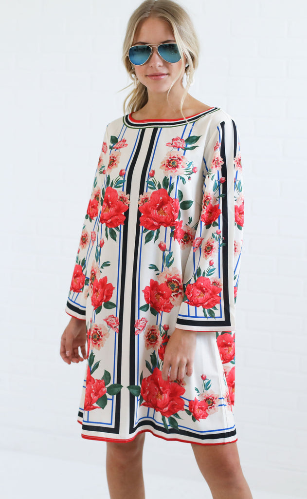 fancy in florals shift dress