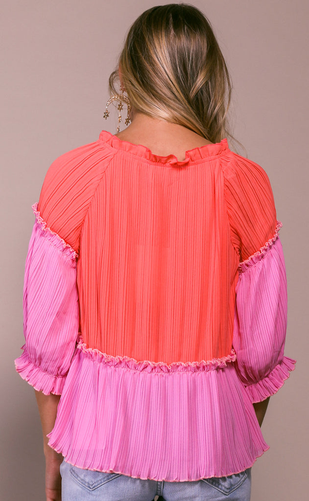 fanfare pleated top