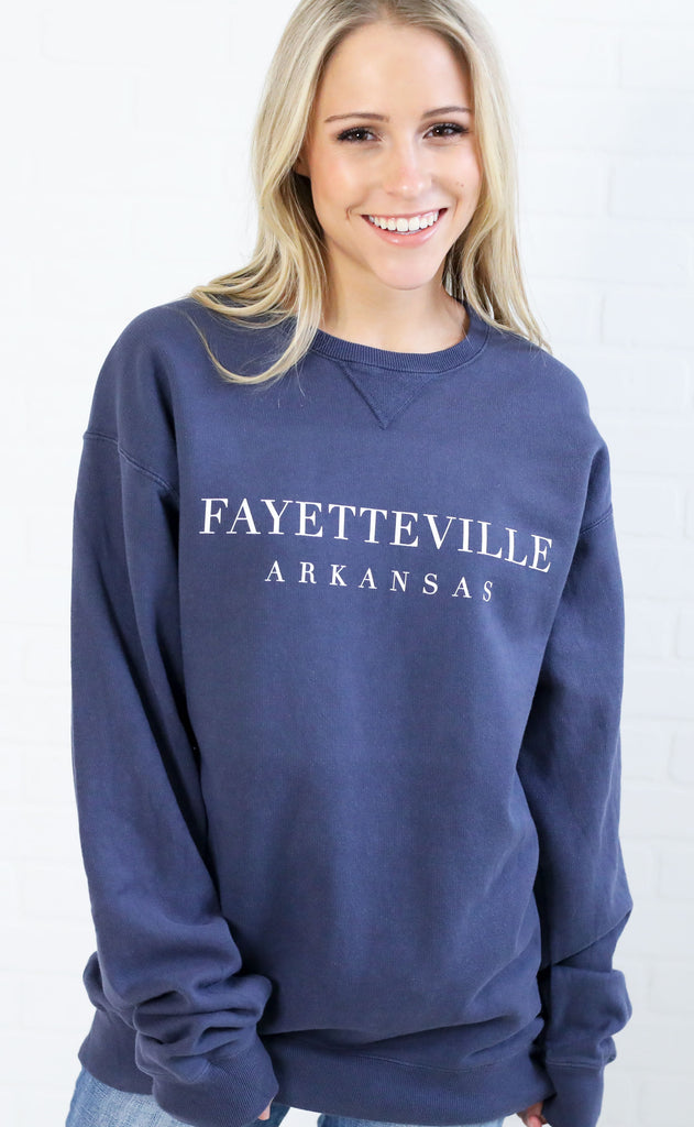 charlie southern: simply local fayetteville sweatshirt - slate