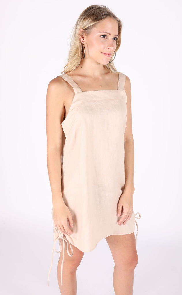 feel the heat linen dress - beige