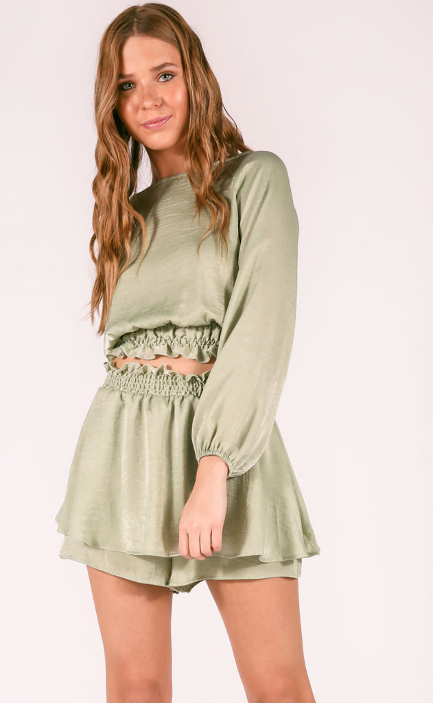 feeling fresh two piece set - light olive