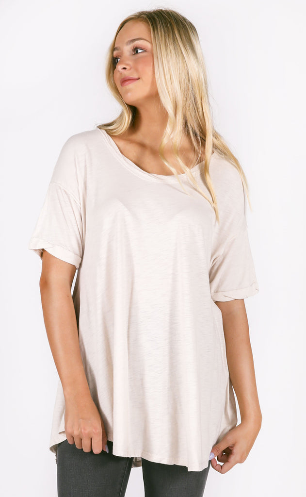 finders keepers knit tunic - ivory
