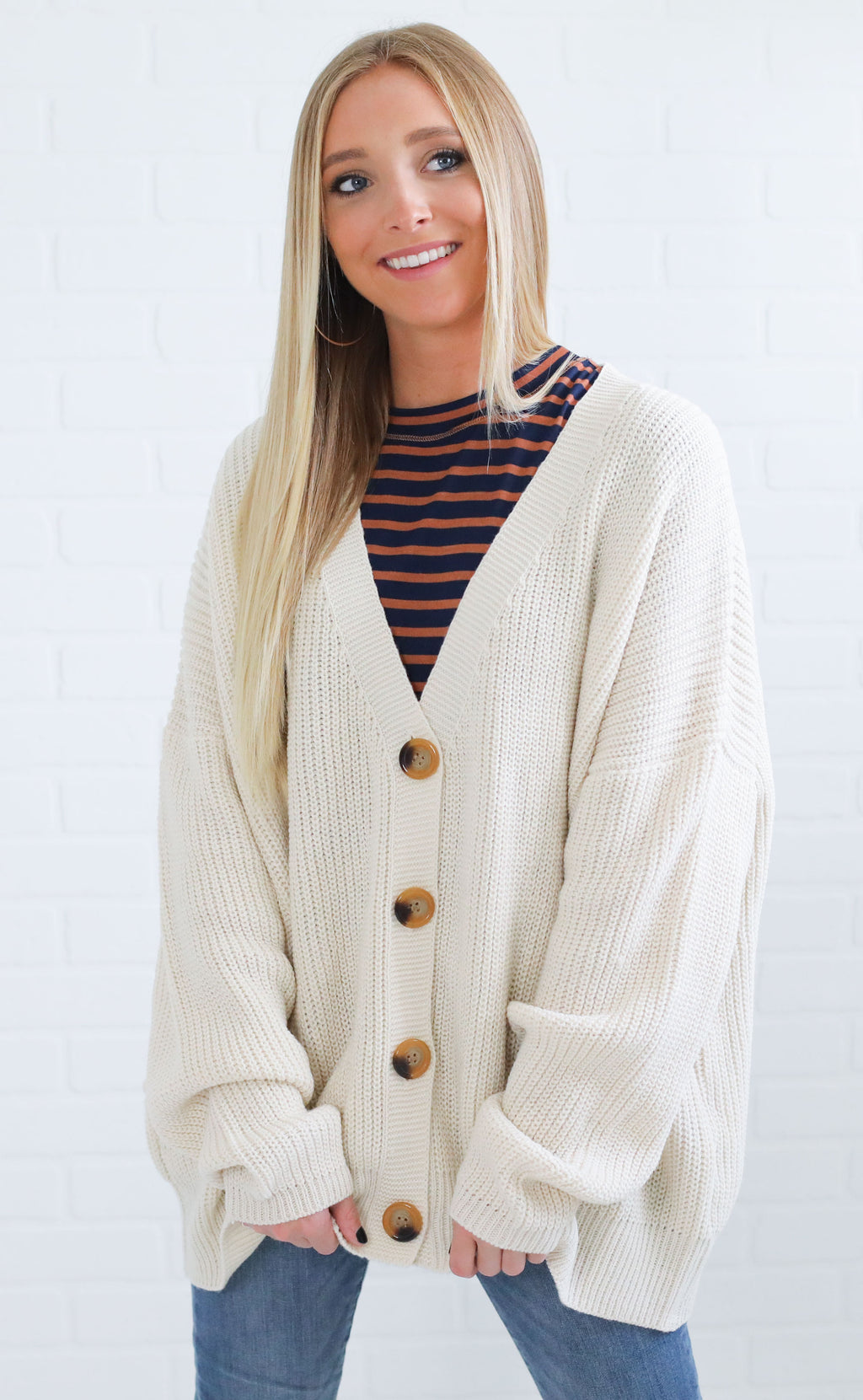 fireside feels knit cardigan - ivory