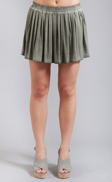 flirt away ruffle skirt - olive