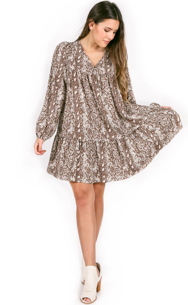 flow with it printed dress