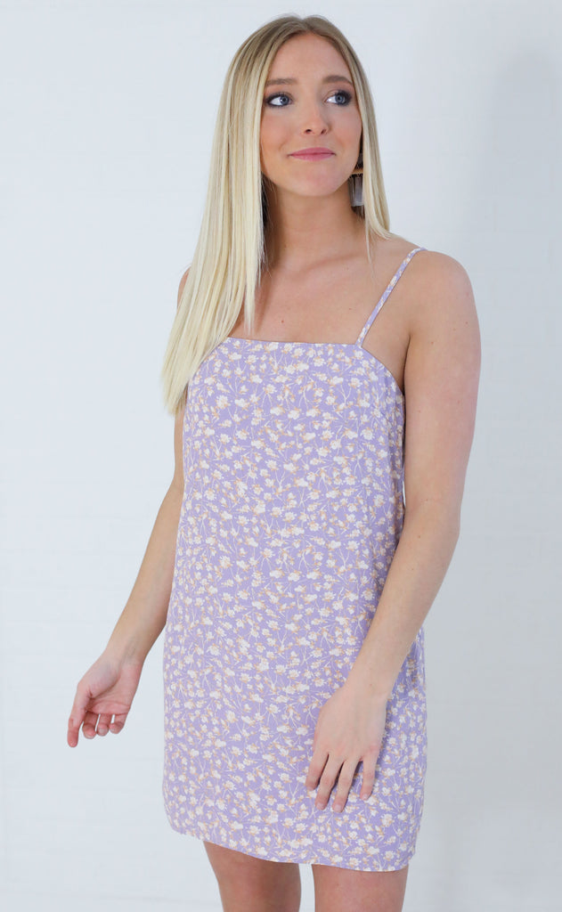 flower fiesta printed dress - purple
