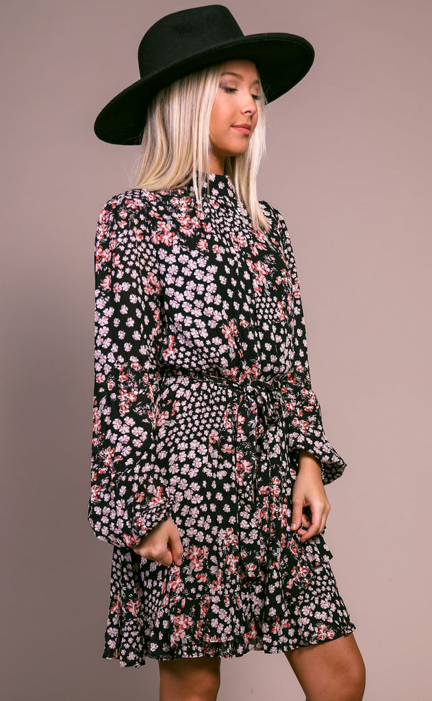 flower bomb turtleneck dress