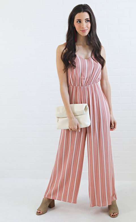 follow the line printed jumpsuit