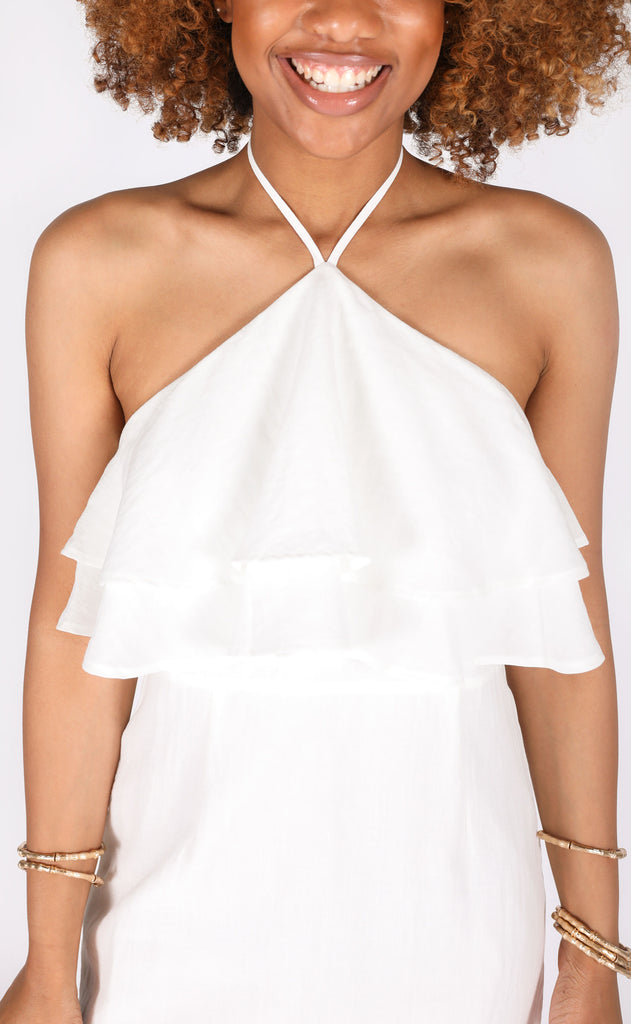 for the girls halter dress - ivory