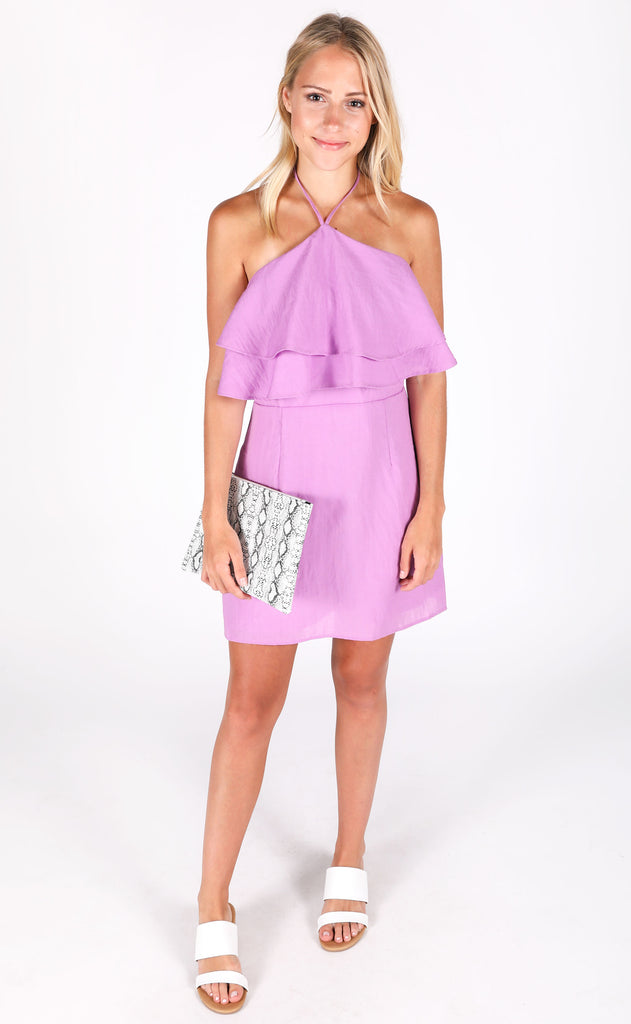 for the girls halter dress - purple