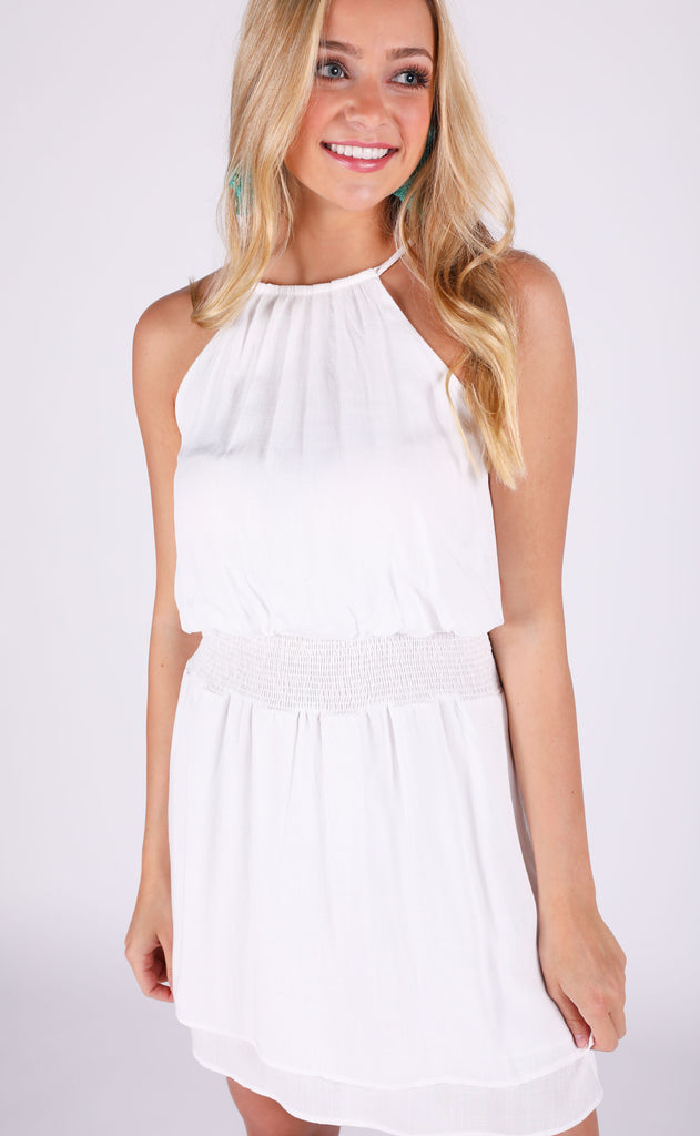 for the love smocked dress - ivory