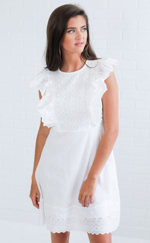 forget me knot ruffle dress