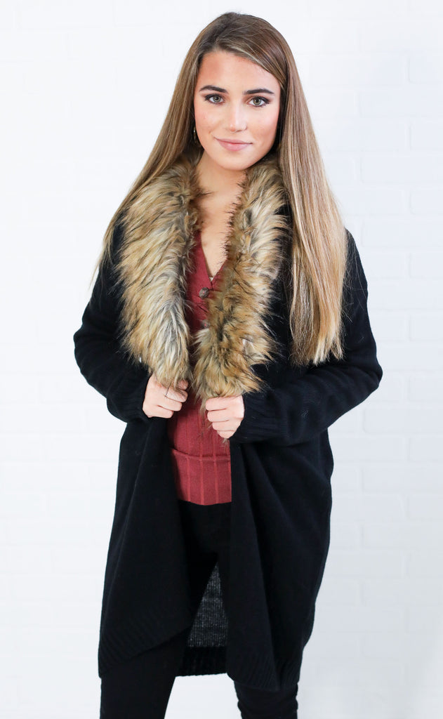 foxy lady fur cardigan