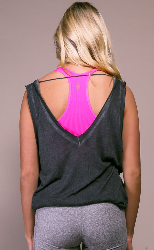 free people movement: henry tank - charcoal