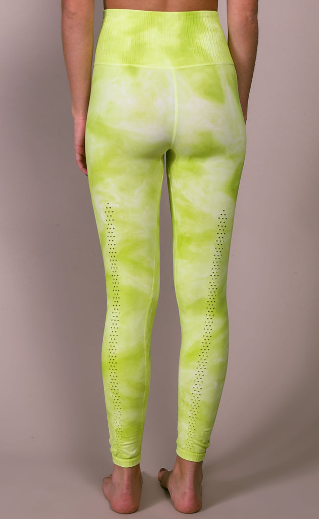 free people movement: good karma tie dye legging - lime