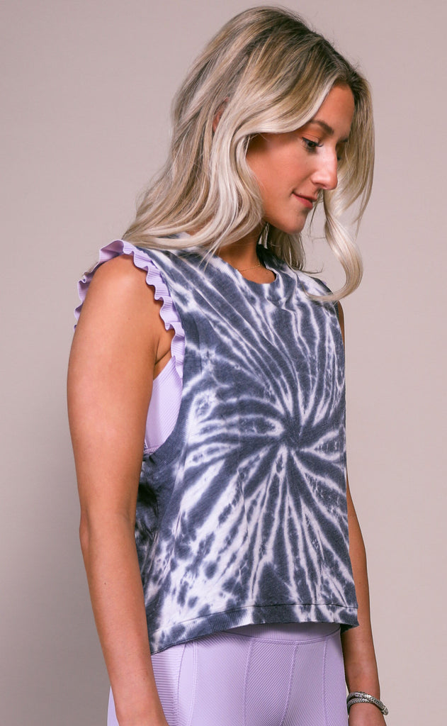 free people movement: love tank - black tie dye