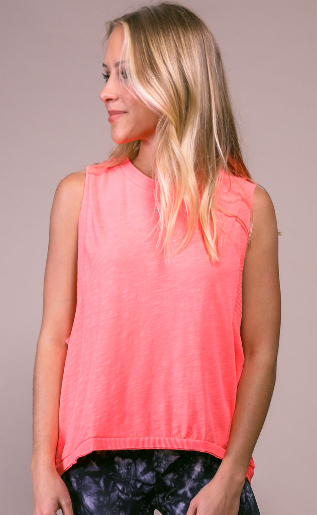 free people movement: love tank - neon coral