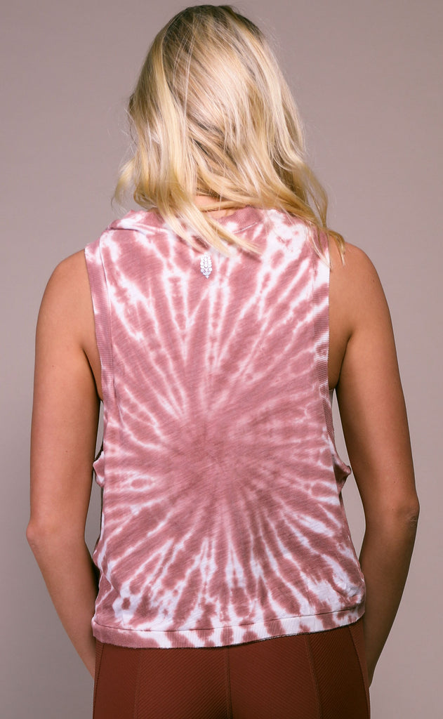 free people movement: love tank - taupe tie dye