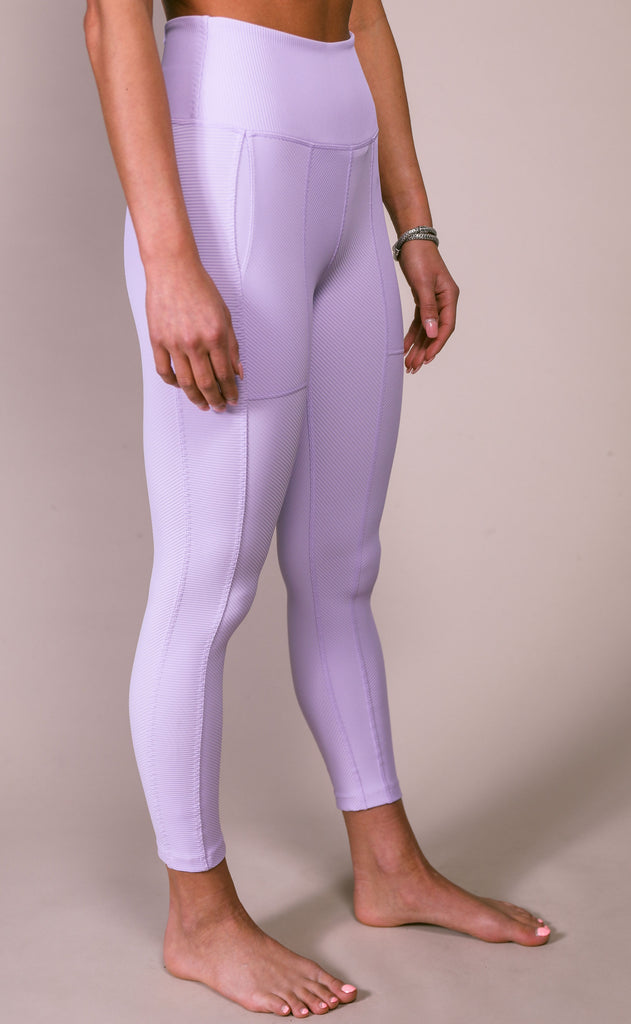 free people movement: ruffle me up legging - lavender