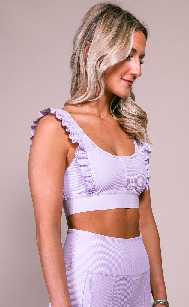 free people movement: ruffle me up bra - lavender