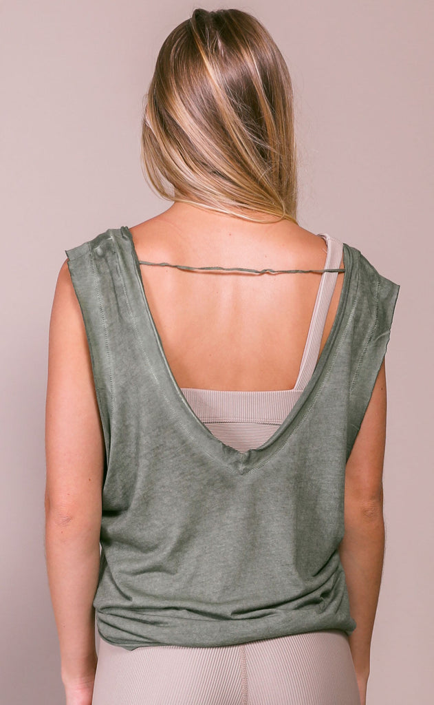 free people movement: henry tank - green