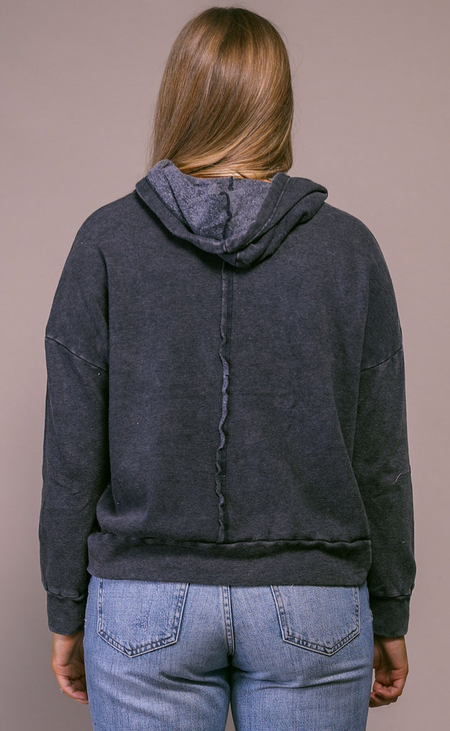 free people movement: work it out hoodie - black