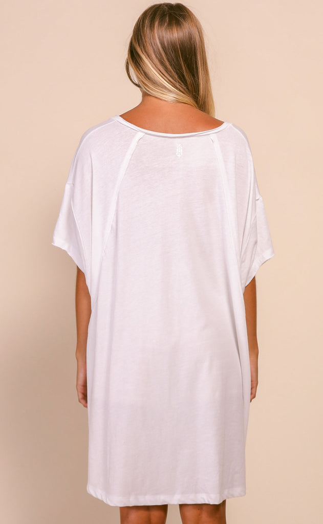 free people movement: city vibes tee - optic white