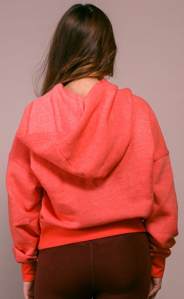 free people movement: believe it sweatshirt - coral