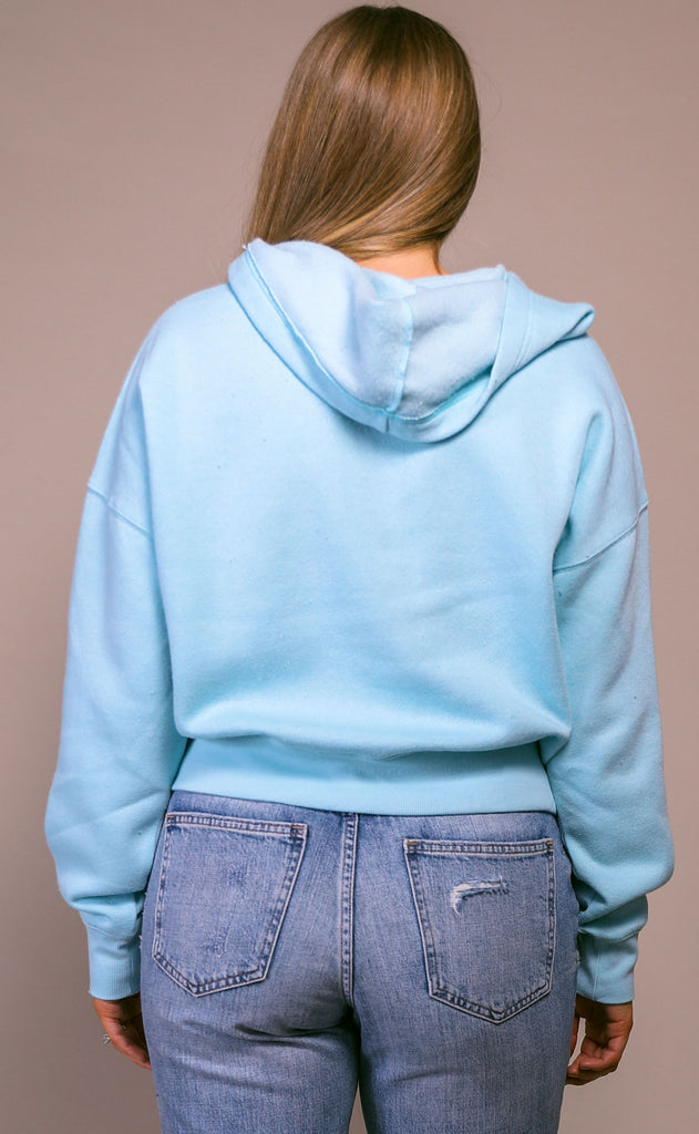 free people movement: believe it sweatshirt - light blue