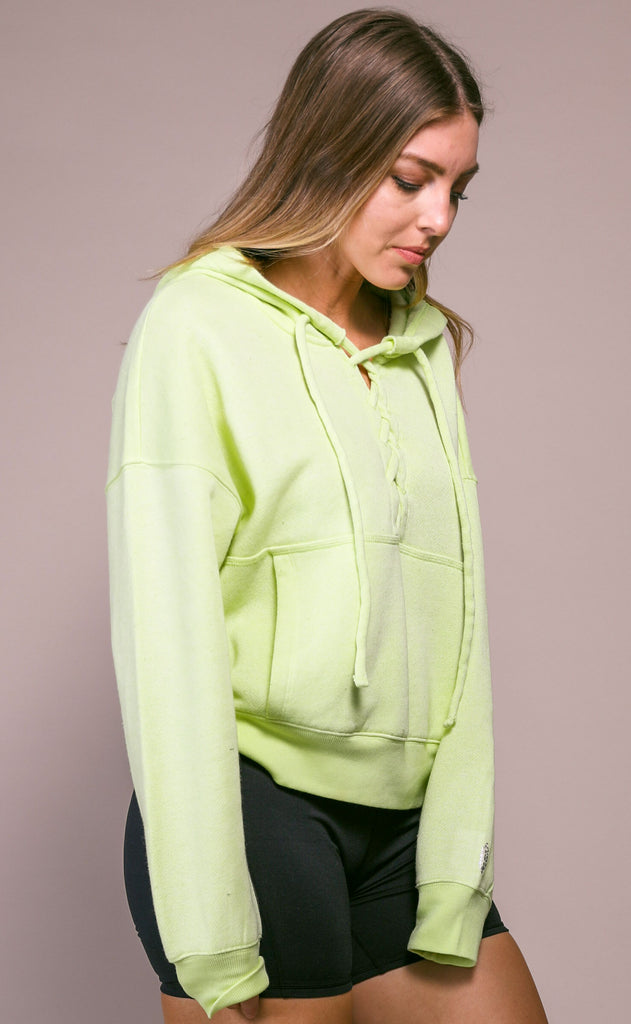 free people movement: believe it sweatshirt - lime