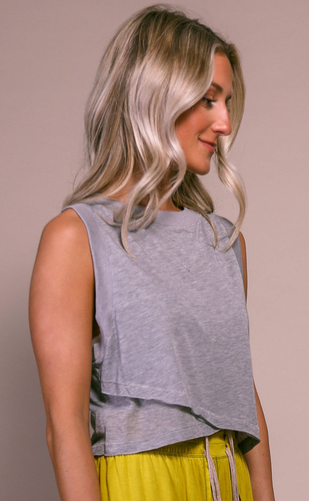 free people movement: cutie buti tank - grey