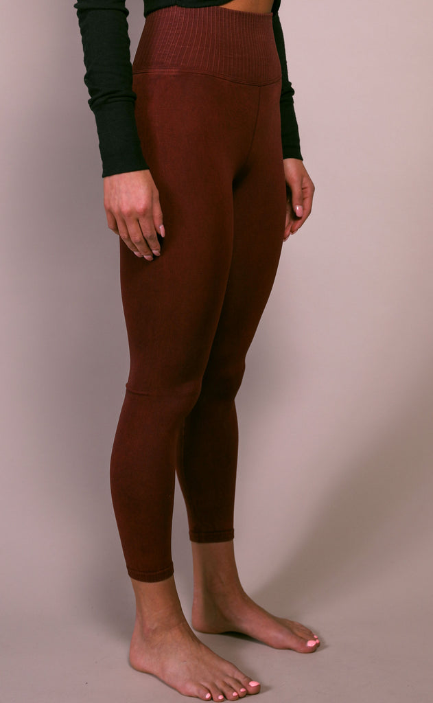 free people movement: good karma legging - wine