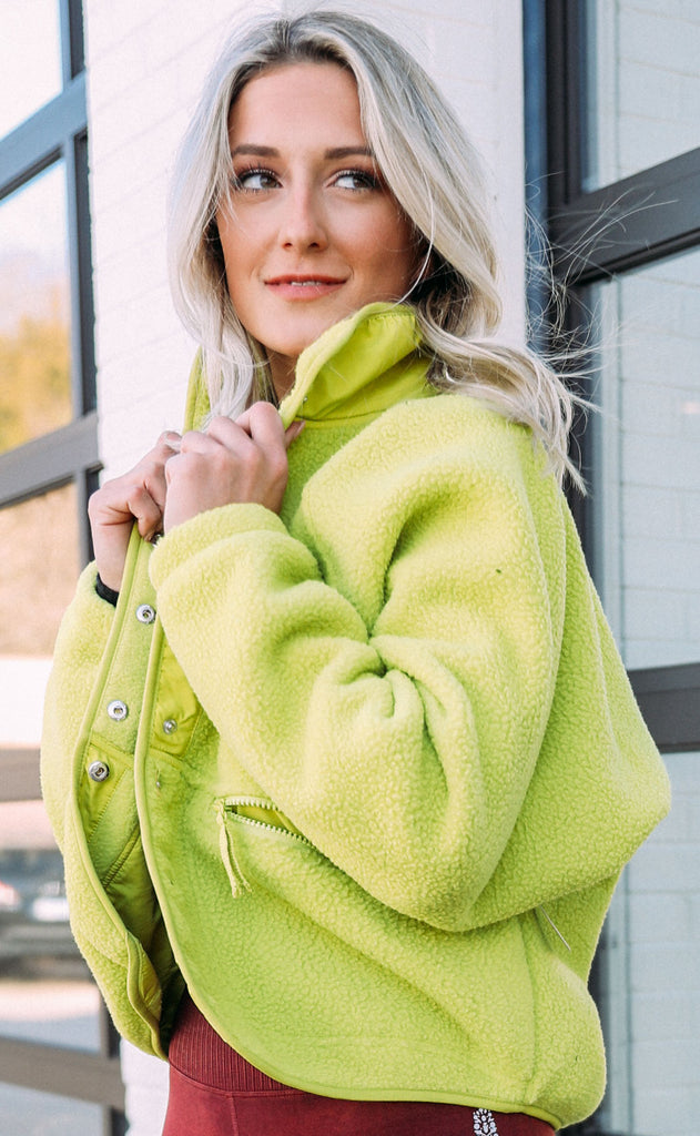 free people movement: hit the slopes jacket - key lime