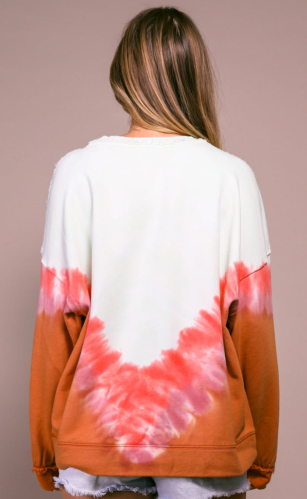 free people movement: ombre metti crew - neon coral chevron
