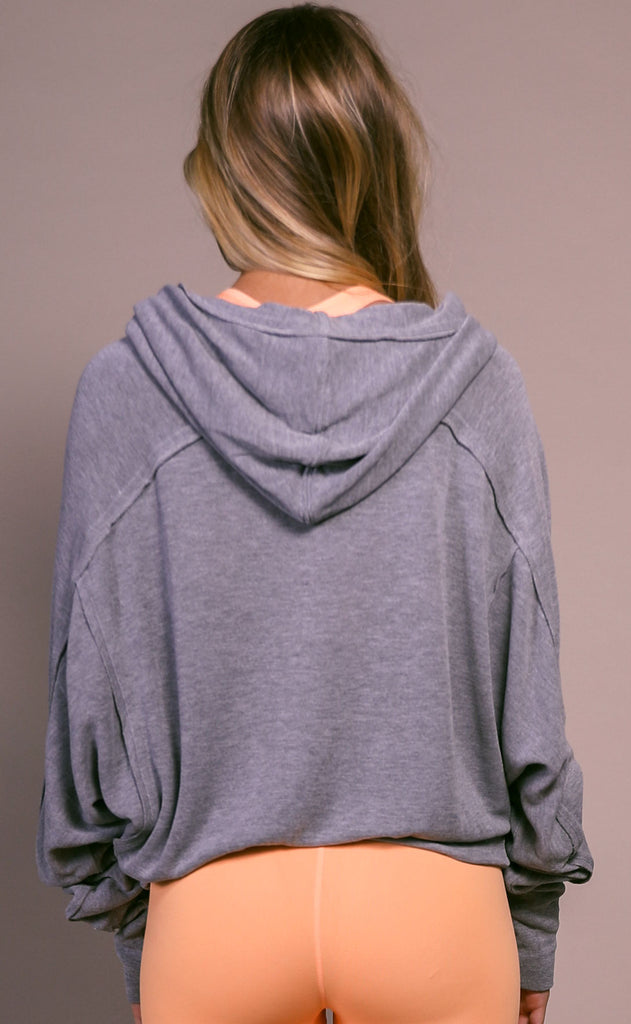 free people movement: ready go hoodie - grey