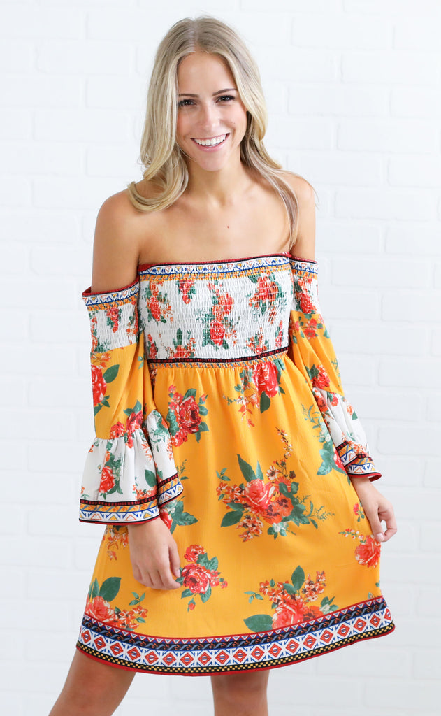 free spirit printed dress
