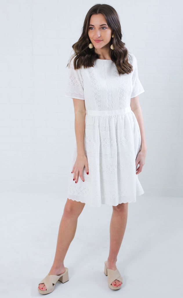 french garden eyelet dress