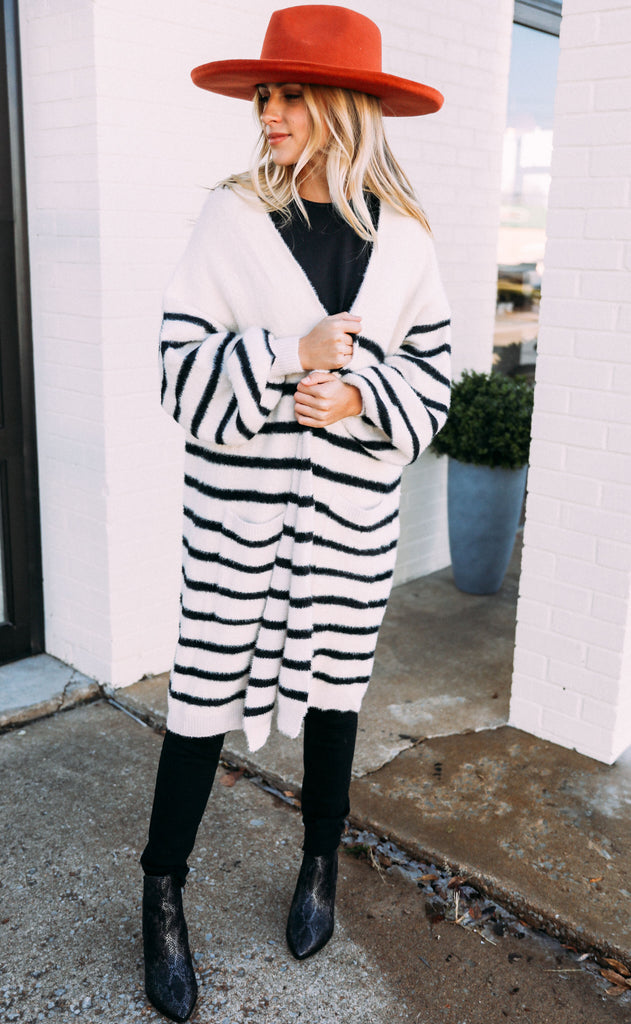 fresh air striped cardigan