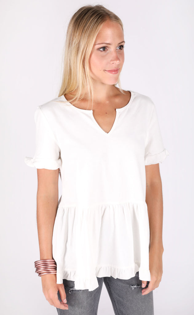 freshly picked babydoll top - ivory