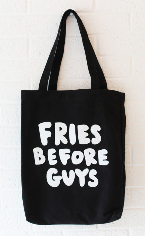 ban.do canvas tote - fries before guys