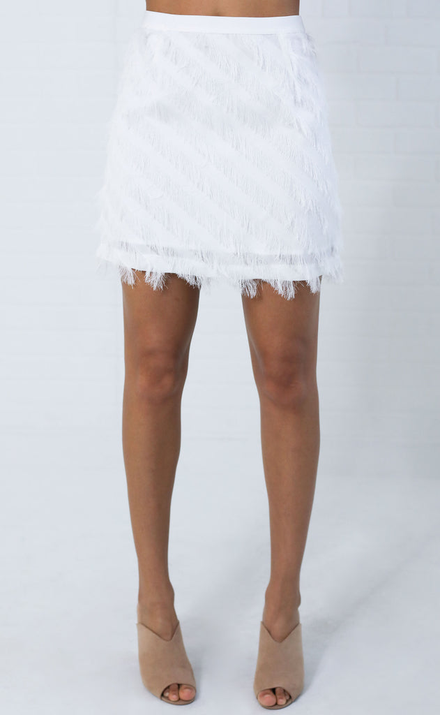 fringe benefits mini skirt