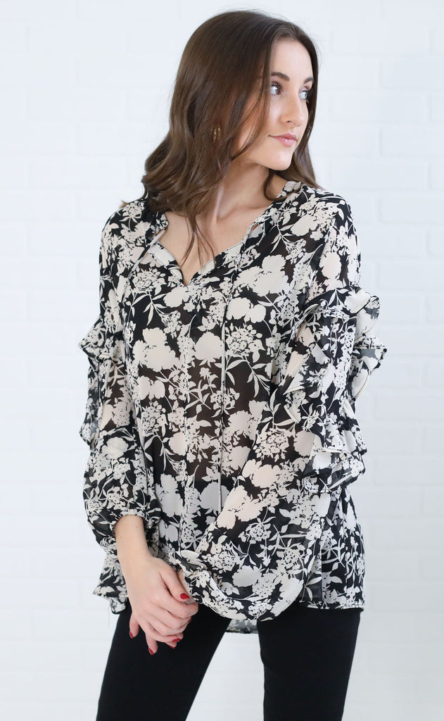 full bloom floral top