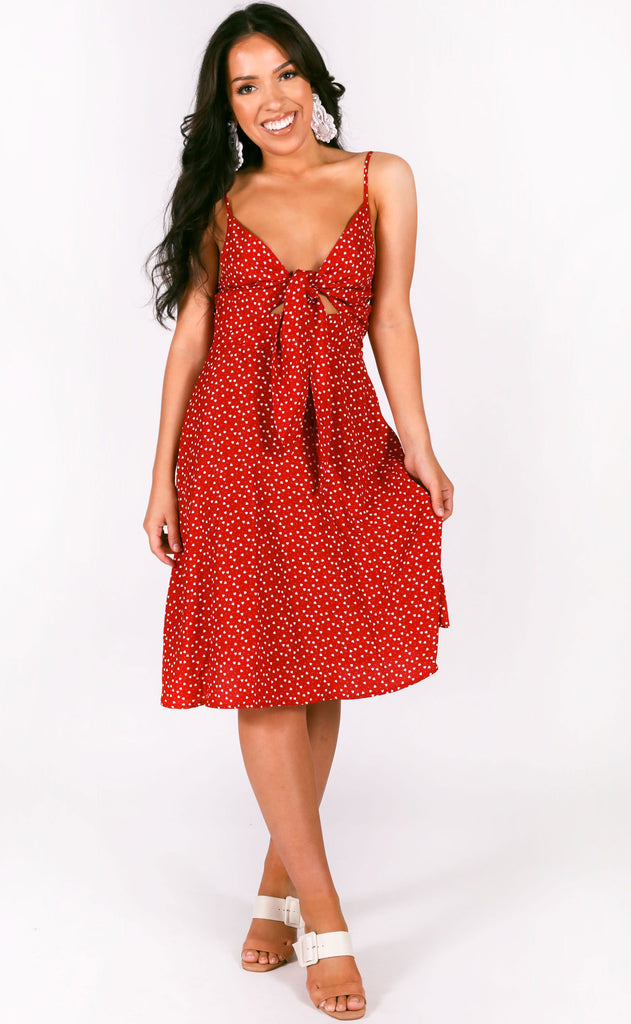 full hearts printed dress
